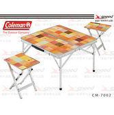 【速捷戶外露營】【美國Coleman】自然風野餐桌椅組  CM-7002JM000
