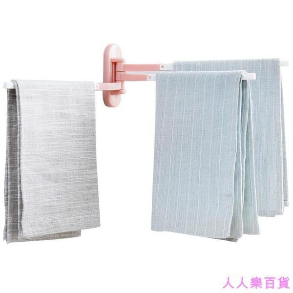 粘貼旋轉毛巾架廚房抹布架衛生間免打孔掛架毛巾架子毛巾桿