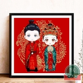 5D鉆石畫滿鉆婚禮系列結婚臥室點貼磚石十字繡【福喜行】