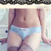 Chasney Beauty-漣漪S-XL水波紋蕾絲三角褲(天藍)