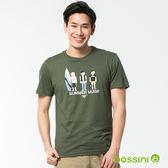 印花短袖T恤50軍綠-bossini男裝