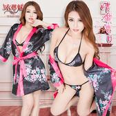 日式和服睡衣 情獵寶貝!戀戀和服式浴袍三件組 角色扮演服 情趣睡衣 女衣