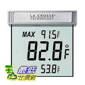 [105美國直購] La Crosse Technology WS-1025 Digital Window Thermometer 數位戶外溫度計 玻璃窗專用 華氏度數顯示
