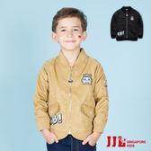 JJLKIDS 男童 經典帥氣短版長袖保暖飛行外套 棒球夾克外套(2色)