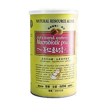 綠緣寶 薏仁豆奶養生粉 450g/罐