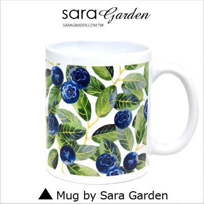 客製 手作 彩繪 馬克杯 Mug 手繪 插畫 水彩 滿版 藍莓 綠葉  咖啡杯 陶瓷杯 杯子 杯具 牛奶杯 茶杯