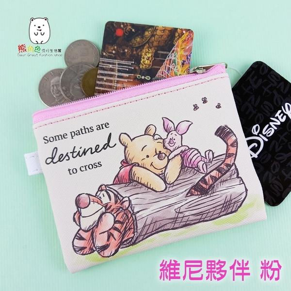 迪士尼 皮料零錢包 維尼 蒂蒂 史迪奇 三眼怪 火腿豬 抱抱龍 【DS0087】 熊角色流行生活館