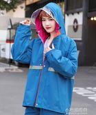雨衣電動車單人加厚反光條男款女款成人戶外雨衣雨褲分體套裝雙層『小宅妮時尚』