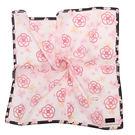 CLATHAS 經典滿版山茶花純綿領巾(粉紅色)989265
