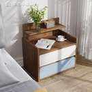 床頭櫃床頭柜簡約現代置物架迷你小型簡易臥室床邊小柜子網紅儲物收納柜YJT 快速出貨
