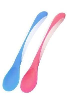 小饅頭***PUKU藍色企鵝-雙色軟質湯匙(單入) (P14312)