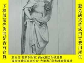 二手書博民逛書店1851年罕見木版畫 THE CARDINAL VIRTUES系