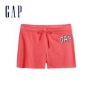 Gap女裝 Logo舒適鬆緊休閒短褲 589675-玫瑰花叢