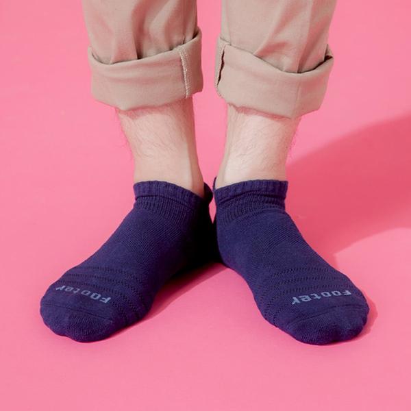 Footer 除臭襪 X型減壓經典護足船短襪(男) T109L-深藍 24-27cm