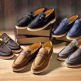 丁果、台灣製造41-45►MIT牛皮拼接帆布休閒鞋*5色