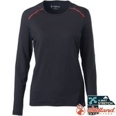 Wildland 荒野 0A62665-54黑色 女輕量鍺纖維親膚保暖衣 排汗透氣發熱衣/快乾機能內衣/內搭保暖衣