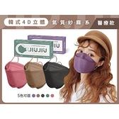 【5件$550】親親 JIUJIU 韓式4D立體醫用口罩(5入)紗霧系列 款式可選【小三美日】