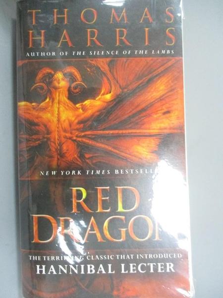 【書寶二手書T6/原文小說_HNR】Red Dragon_Harris, Thomas