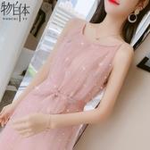 雪紡連身裙吊帶雪紡連身裙夏季很仙的法國小眾桔梗裙子仙女超仙森系春季特賣