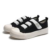 KANGOL 餅乾鞋 黑 帆布 鬆緊 黏帶 帆布鞋 休閒 女(布魯克林) 6952200320