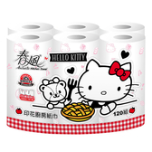 【春風】廚房紙巾-新Kitty印花分享篇-120組*6捲*8串-箱購