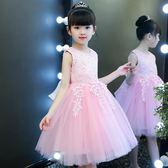 限時8折秒殺兒童禮服女童公主裙夏裝連身裙兒童婚紗蓬蓬紗鋼琴演出服花童禮服洋氣裙子
