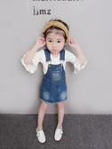 女童吊帶裙 女童秋裝洋裝1-3-5歲4兒童牛仔背帶裙寶寶夏季公主吊帶背心裙子 小天後