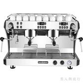 插電式220V大型咖啡機商用雙頭專業意式半自動泵壓式電控版蒸汽 FF1730【男人與流行】