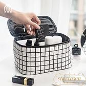 格子化妝包女大容量旅行化妝品收納包多功能【繁星小鎮】