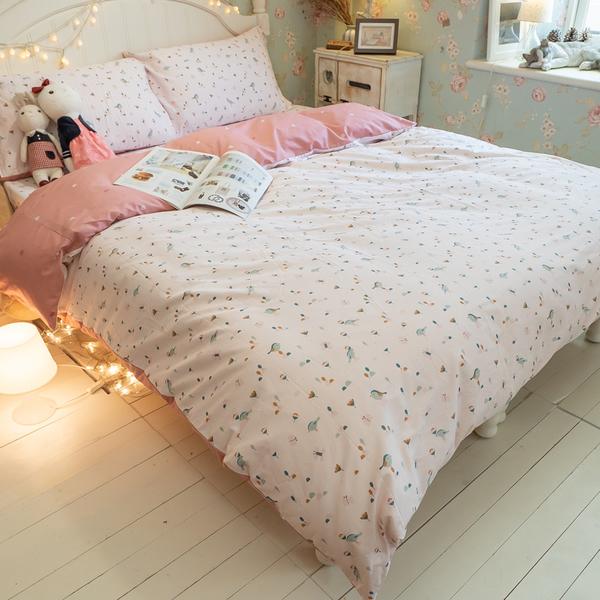 依比花園 K3 King Size床包與兩用被四件組 100%精梳棉 台灣製