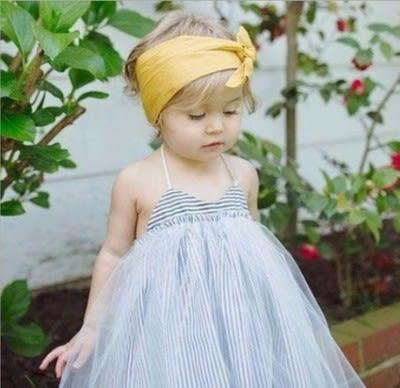 ins爆款童裝吊帶條纹紗紗裙氣質女寶寶裙兒童吊帶背心裙- 預購