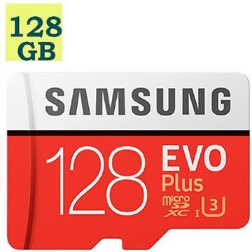 SAMSUNG 三星 128GB 128G microSDXC【100MB/s】EVO Plus microSD SDXC U3 C10 4K MB-MC128GA 手機記憶卡