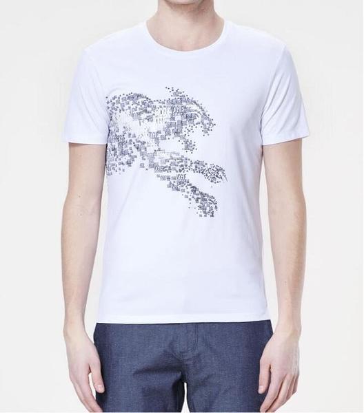 FINDSENSE MD 韓國 男 街頭 時尚 潮 個性字母印花豹圖案 短袖T恤