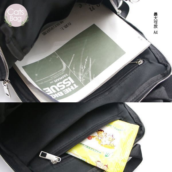 Catsbag|多口袋輕量可放車箱 防潑水二用型可肩背後背包(不附毛球)|40111107