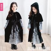 萬聖節服裝 萬聖節兒童服裝幼兒園表演服骷髏童裝女童女巫婆吸血鬼親子洋裝 『3C環球數位館』