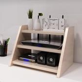 路由器收納盒家用電視櫃機頂盒置物架子路由器收納盒成人支架隔板擱板
