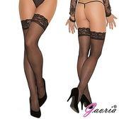 情趣用品 網襪 性感睡衣【Gaoria】誘惑蕾絲花邊 性感過膝 絲襪 長筒襪 高筒大腿襪 黑