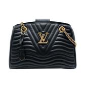 【台中米蘭站】全新展示品 Louis Vuitton New Wave 鏈帶肩背包(M51496-黑)