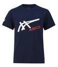 (C2) ASICS 亞瑟士 男女童 短袖T恤 運動上衣 吸濕排汗 親子裝2033B106-400丈青 [陽光樂活]