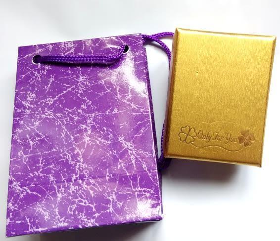 幸運草項鍊盒+提袋禮盒組/耳環盒/對戒盒/小別針包裝盒批發(金色盒)