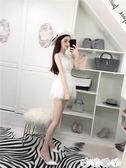 小洋裝 超短裙夜場公主裙蓬蓬小洋裝蕾絲無袖修身上衣性感夜店連身裙 愛丫愛丫