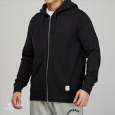 Converse Essential Lux 男子 黑色 毛圈內裏 運動 連帽 外套 10000655-A01