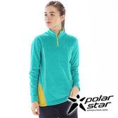PolarStar 女 高領拉鍊保暖衣 │ 台灣製造『水藍綠』 P15218