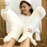珊瑚絨襪子女地板襪加厚保暖秋冬季可愛日系中長筒【愛物及屋】