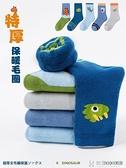 兒童襪子系列 兒童襪子秋冬純棉加厚加絨保暖毛圈襪男童中高筒襪恐龍寶寶毛巾襪 快意購物網