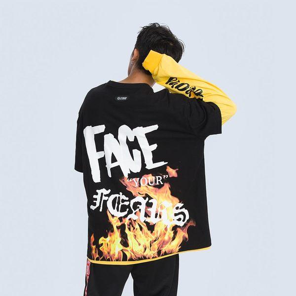 面對恐懼之火寬版TEE STAGE FACE YOUR FEARS T-SHIRT 黑色/白色 兩色