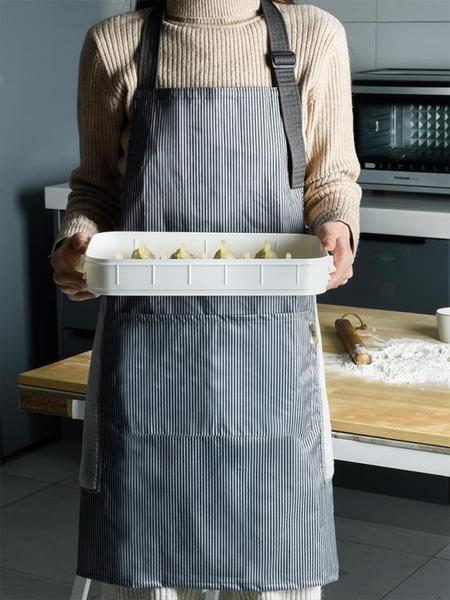 圍裙 可擦手圍裙 防水防油 烘焙烹飪做飯罩衣圍腰廚房家務工作服 男女  美物 99免運