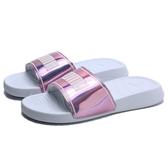 PUMA 拖鞋 POPCAT20 LRI WNS 白 粉紫雷射 白LOGO 女 (布魯克林) 37262702