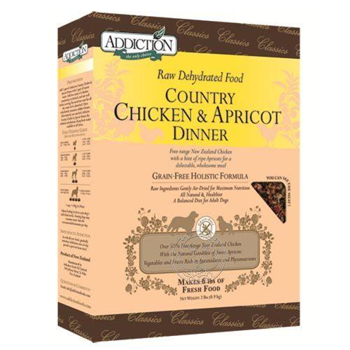 【培菓幸福寵物專營店】紐西蘭Addiction《雞肉杏桃》脫水乾糧-8lbs 送手工雞捲50克