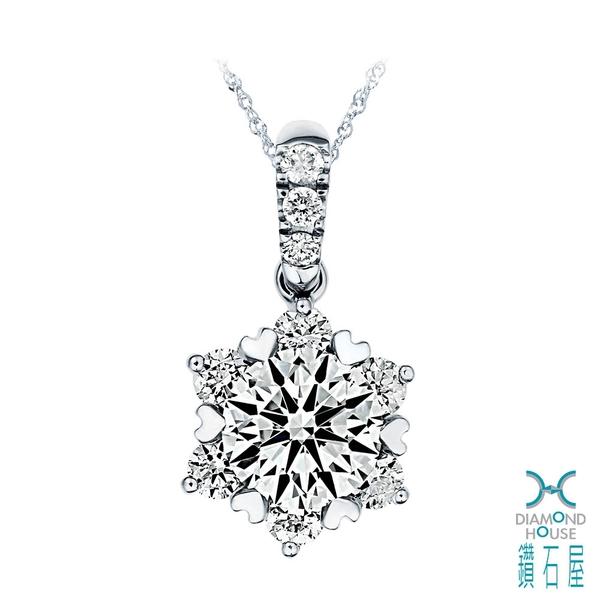 1克拉鑽石墜子 愛心爪鑽石墜 DD036016
